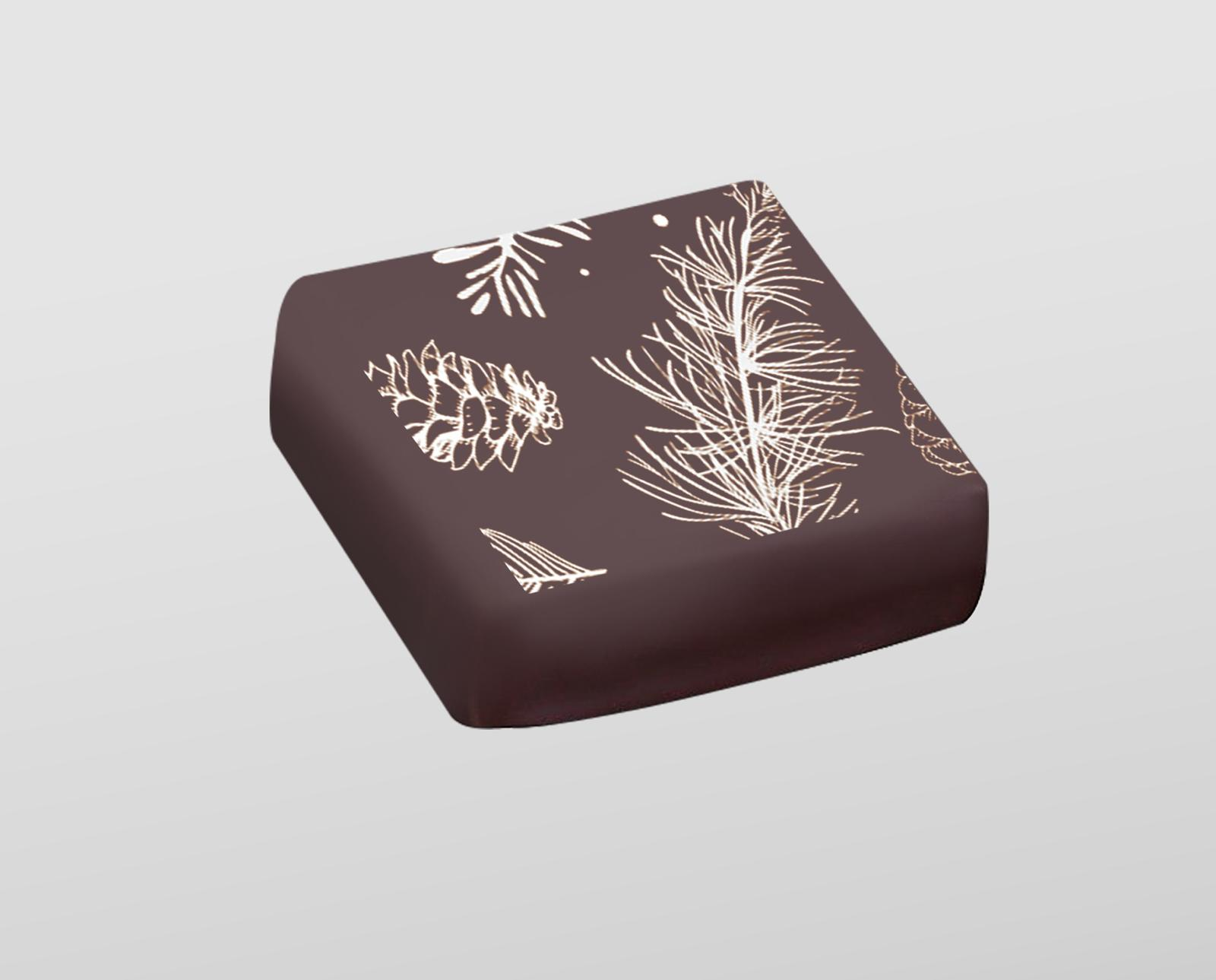 Christmas Leaves Chocolate 100 Sheets White Color